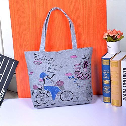 Seba5 Home Große Leinwand Strandtasche Mobile Handtasche Leinwand Tasche Frauen Tote Bag Schultertasche Fahrrad Umweltfreundliche Tote Bag -
