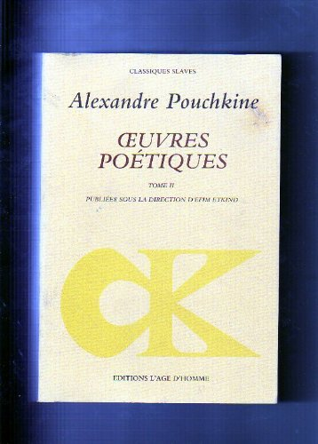 Oeuvres poétiques, tome 2