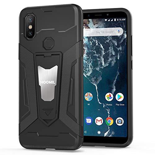 HOOMIL Resistente Funda para Xiaomi Mi A2, Shock-Absorción Silicona Carcasa para Xiaomi Mi A2/Mi 6X Case Cover - Negro (H3399)