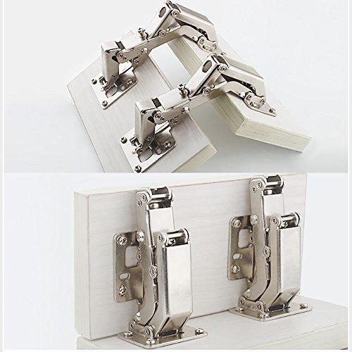 Qrity 4X Pack of Kitchen Cabinet Door Hinges Cupboard Door ...