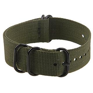 Possbay Sport Uhrenarmband Band Army Military Handgelenk Leinwand Nylon Gürtel 20mm 22mm für Herren Damen Unisex grün grün 20 mm
