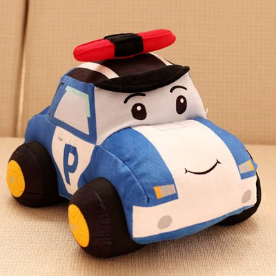 Polizei Auto Kissen gefüllt Plüsch Auto Spielzeug Kid Little Boy Girl Geschenk idear-11.8Zoll