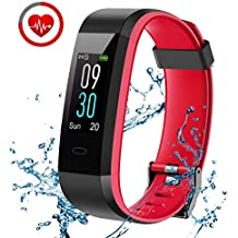 Pulsera Actividad, CHEREEKI Fitness Tracker IP68 Impermeable Monitor de Frecuencia Cardiaca 14 Modos de Ejercicio