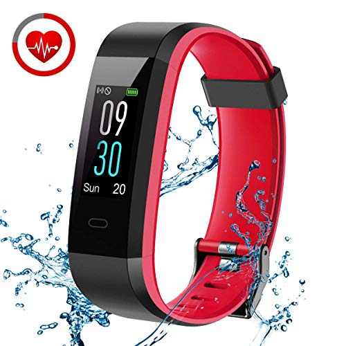 CHEREEKI Women Men Boy Girl 1252 Fitness Tracker Rot, One Size