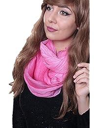 Prettystern - longue cheche soie écharpe 190 cm Tie-Dye lavés optique tissu  de couleur 5b15094d6f0