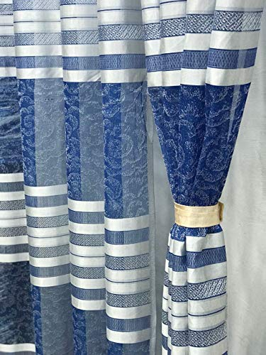 check MRP of blue net curtains RIDHAAN