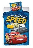 BrandMac Parure de lit Cars 100% Cotton Disney - Housse de Couette Réversible 140x200 cm + Taie d'oreiller 63x63 cm