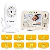 LEXNHOM Baby Monitor, Two-Way Talk 3.5 Inch Large LCD Display with Digital Camera