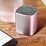 HU Drahtloser tragbarer Bluetooth-Lautsprecher Stereo-Audio-Player, 360 ° Surround Sound (Farbe : Pink)