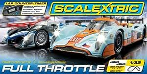 Scalextric C1279 Full Throttle 1:32 Scale Race Set