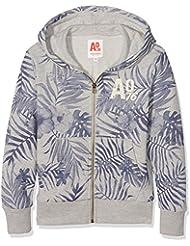 Unbekannt Jungen Kapuzen-Sweatshirt Full Zip Sweater Leaves