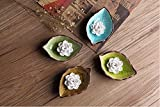 SDKKY Handmade ceramic Lotus incense smoke ashtray leaf dish,C