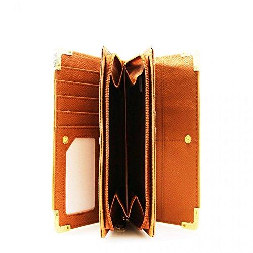 LeahWard® Damen Kunstleder Geldbörsen Groß Marke nett Brieftasche Geldbörse Tasche CW1608 Blau