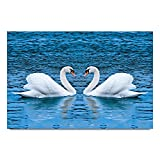 ezyPRNT Swan couples Printed Wall Poster...