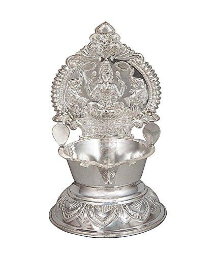 Pure Silver 25-27 Grams Kamakshi Lakshmi Ma Diya Lamp Ugadi Gift