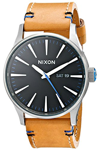 nixon-mens-a1051602-sentry-leather-watch