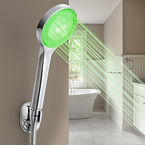 Horleora LED alcachofa de ducha  de doucha mano de Control de temperatura con 3 color
