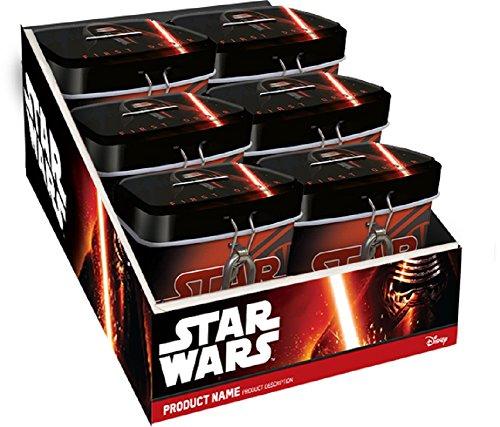 Preisvergleich Produktbild 6 Stück Disney Star Wars Spardose mit Schloß Mitgebsel