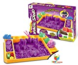 Toys Bhoomi 1.5KG Magic Sand Activity Playset with Sandbox & Molds - 100% Safe Gluten-Free