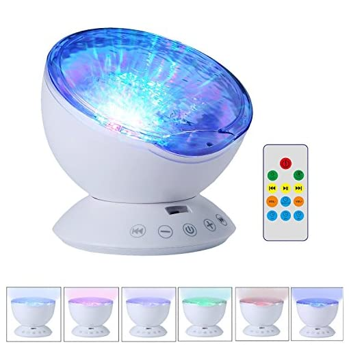 UMIWE-Remote-Control-Ocean-Wave-Projector-Night-Light-Lamp-with-Built-in-Music-Player-12-LED-Beads-7-Colorful-Light-Modes-for-Kids-Adults-Bedroom-Living-Room-Newest-Generation