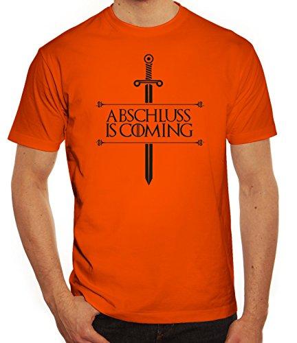 Abschluss Abitur Abi Herren T-Shirt mit Abschluss Is Coming Motiv von ShirtStreet Orange
