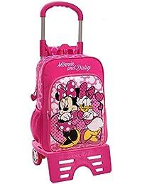 Disney Minnie & Daisy Nice Day Mochila Escolar, 15.6 Litros, Color Rosa