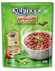 Kohinoor Xpress Eats, Ready-to-Eat Rajma Masala, 300g Microwave Pack