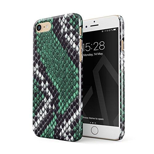 Burga cover iphone 7/iphone 8 verde pelle di serpente emerald cobra savage green snake skindesign sottile, guscio resistente in plastica dura, custodia protettiva per iphone 7/8 case