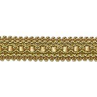 DecoPro - Paquete de 25 Metros de lt Verde Oliva, Oro Amarillo de 2,5 cm, Estilo Imperial II Gimp Trenzado #0125IG, Color: Bronce de Invierno – 2935