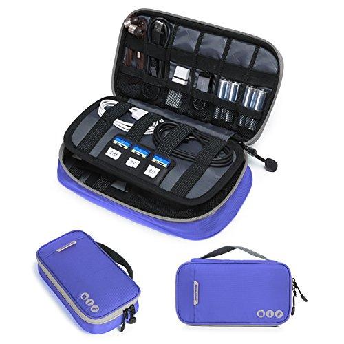 BAGSMART Organizzatore Universale per Cavetti Custodia da Viaggio per Dispositivi Elettronici e Accessori
