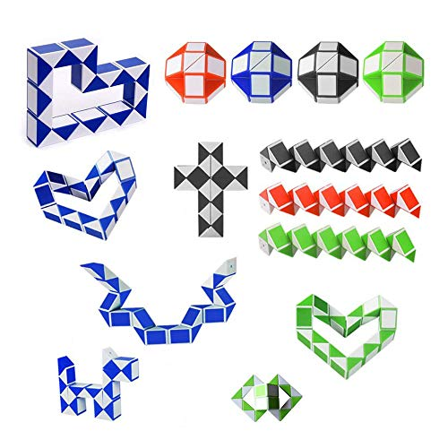Gotyou 15 Piezas 24 Bloques Mini Cubo Serpiente Magic,Regla