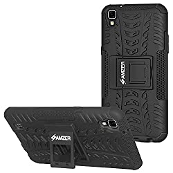 AMZER Defender Hybrid Warrior Armour Case Impact Resistant Back Cover For LG X Power / Power ...