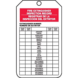 Accuform Signs SBTRS217CTP Spanish Bilingual Fire Extinguisher Tag, Legend