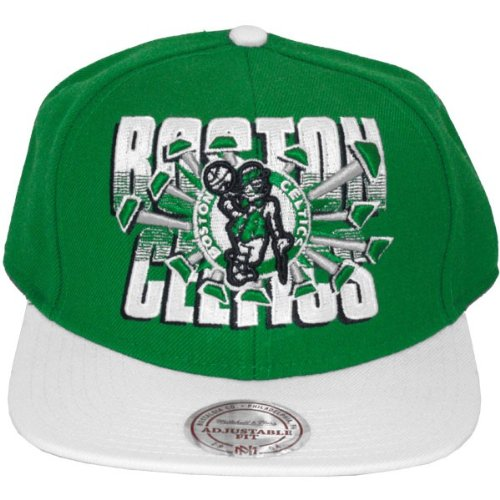 Mitchell & Ness - Casquette Snapback Homme Boston Celtics Backboard Beak