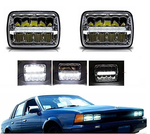17,8x 15,2cm LED-Scheinwerfer rechteckig 12,7x 17,8cm versiegelt Beam quadratisch Scheinwerfer High/Low Beam mit Standlicht jede 200mm ersetzen H6054H6014H6052Stil Licht (2Pcs) (H6054 Led)