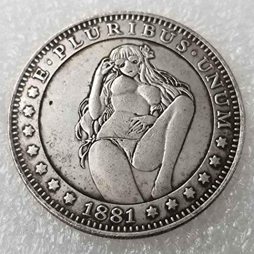 YunBest Best Morgan-Münzen – 1881 Hobo Nickel-Münze – alte Münze zum Sammeln – Silber-Dollar USA Old Morgan Dollar – überzogene Silberne Nachbildung von Münzen BestShop