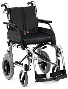 "Drive DeVilbiss Healthcare Enigma XS2 Aluminium Transit Wheelchair with 18"" Seat Width"
