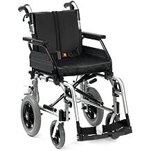 Drive Medical XS2TS18SIL - Silla de ruedas de tránsito (45,7 cm)