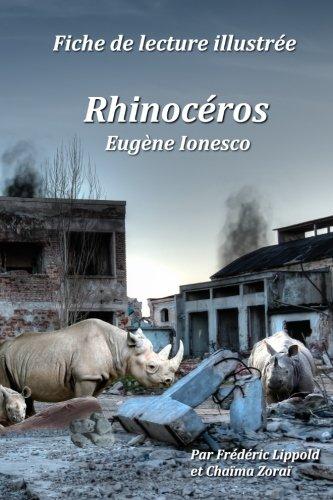 Fiche de lecture illustrée - Rhinocéros, d'Eugène Ionesco par Frédéric Lippold