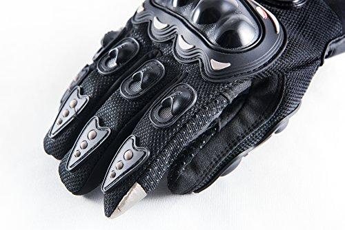 Motorradhandschuhe Pursuit Moto L schwarz kurz Sommer Touchscreen für Herren und Damen Motocross Handschuhe Fahrrad MTB Roller Sport Mofa - 6