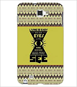 PrintDhaba Quote D-2610 Back Case Cover for SAMSUNG GALAXY NOTE 1 (Multi-Coloured)