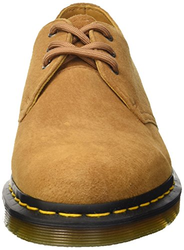 Dr. Martens 1461 Soft Buck, Scarpe Stringate Basse Brogue Unisex – Adulto Soft Buck Tan