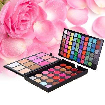3-capa Farbe 96Lidschatten + Rouge + Puder + Lip Gloss + Concealer Palette Make-up - Lip Rouge Palette