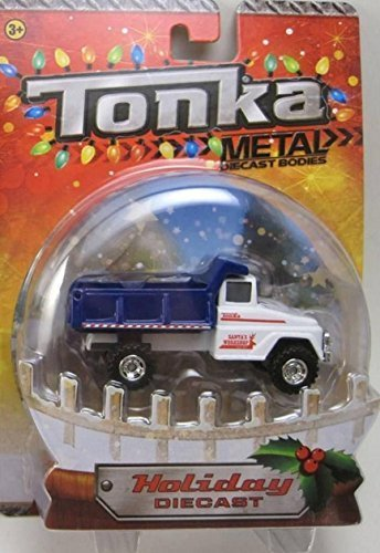 Playskool Santa's Workshop Blue & White Dump Truck Tonka Metal Holiday Diecast 1:50 Scale by Tonka