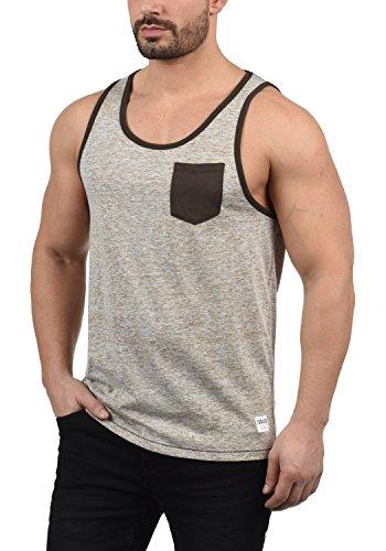 !Solid Tell Herren Tank Top mit Rundhalsausschnitt Regular Fit, Größe:XL, Farbe:Cinnamon (5056)