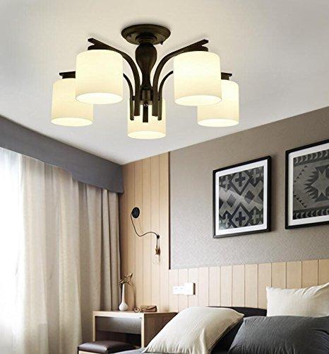 ZXL Mount Pastoral American Country Wohnzimmerlampe Kreative LED Deckenlampe Modern Minimalistisches Schlafzimmer Gemütliches Restaurant Dekoriert Lampen Lampe Enthalten (Größe: 5 Lichter (5W LE -