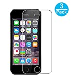 3 Pezzi Vetro Temperato iPhone 5 SE 5S 5C, WEOFUN Pellicola Protettiva per iPhone 5 SE 5S 5C Display Proteggi Schermo ( 0.25mm, 9H, Alta trasparente )