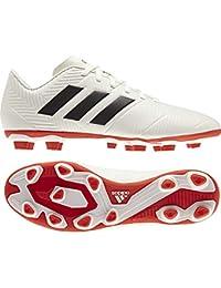 fc8c68f080f Adidas Men s Nemeziz 18.4 FxG Owhite Cblack Actred Football Shoes-8 UK (