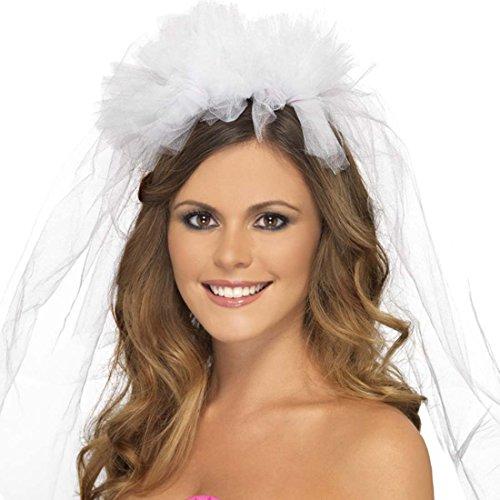 Schleier Junggesellinnenabschied JGA Kopfschmuck Bride to Be Haarschmuck Kostüm Zubehör Braut Accessoire Brautschleier Hen Party Outfit