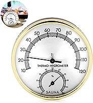 TaimeiMao Sauna Thermometer,Hygrometer Analog,Hygrometer Aussen Edelstahl,Hygrometer Innen Analog,Waterproof T